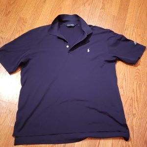 Polo Ralph Lauren Golf Blue Polo Shirt Navy Large